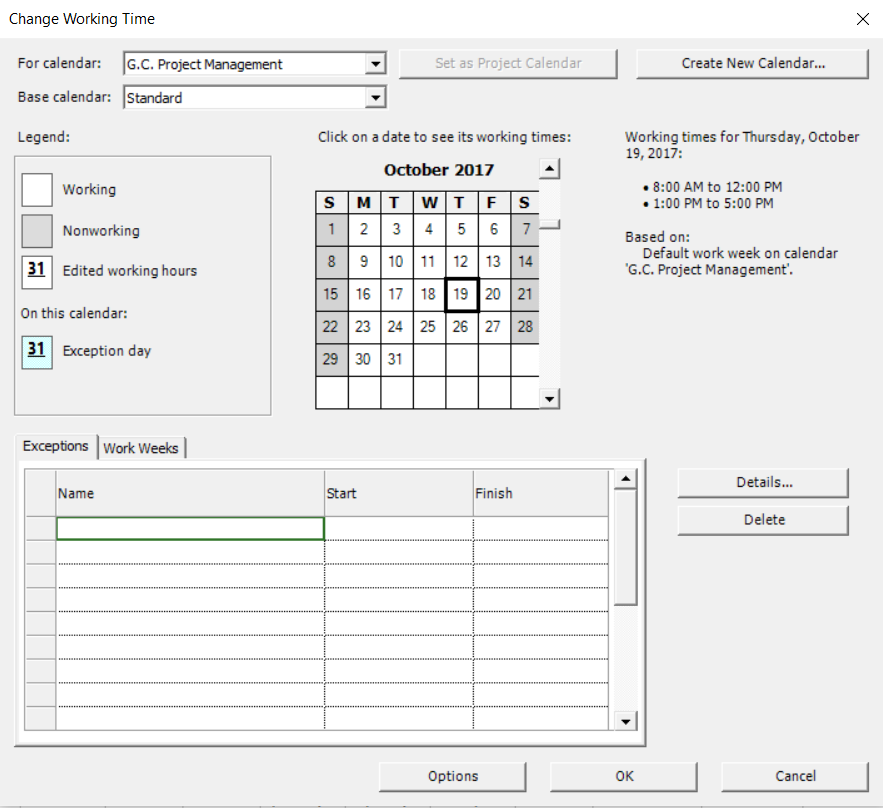 Create Calendars Project Plan 365