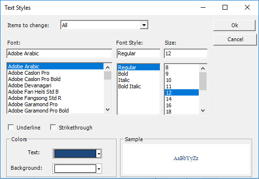 Font Text Style – Project Plan 365
