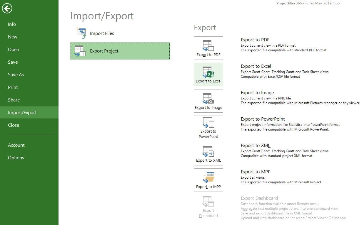 Export to Excel (CSV) – Project Plan 365 on convert excel to csv format, excel worksheet, excel comma delimited format, finished example csv format, openoffice xml format, excel spreadsheet format, excel json, text csv format, excel csv format with address, excel text file, excel 2010 file tab,