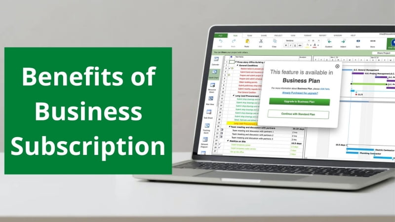 Benefits of Business Subscription