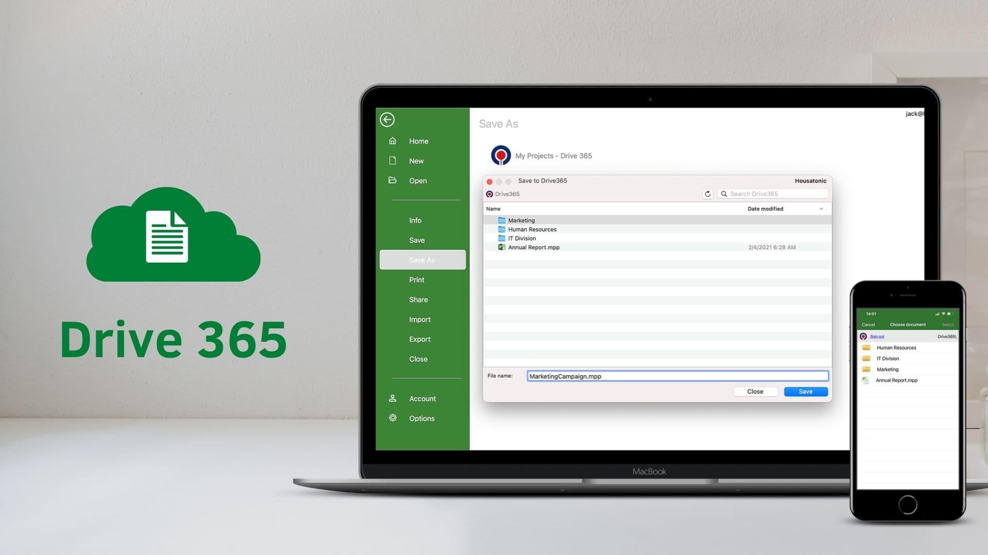 Drive 365 Cloud Storage