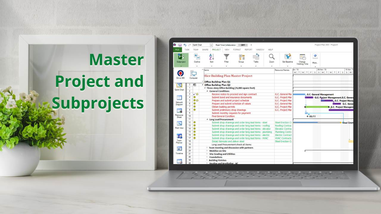 Master Projects and Subprojects